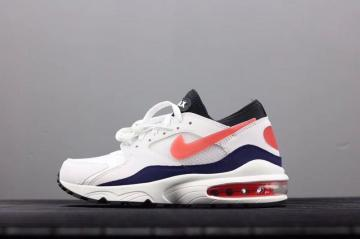 ea0348ca9f Nike Air Max 93 Leather Mens Shoes Red White 306551-102