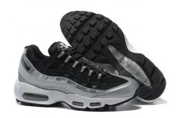 the latest a0e82 7c947 Nike Air Max 95 Black Wolf Grey OG QS Running Shoes 609048-105