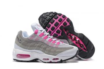 new products d2c79 b9763 Nike Air Max 95 20th Anniversary Gray White Pink Women Shoes
