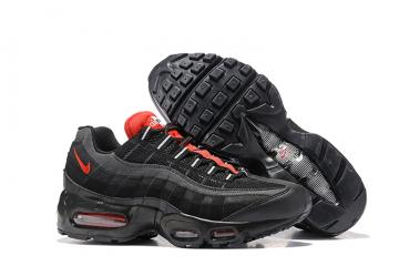 the best attitude 2566d 16e79 Nike Air Max 95 Essential Black Challenge Red Men Shoes 749766-016