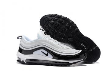 748c15d74b Nike Air Max 97 Pure White Black Men Running Shoes Sneakers Trainers  312641-006