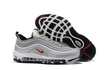 9412904252 Nike Air Max 97 White Silver Grey Black Men Running Shoes Sneakers Trainers  312641-059