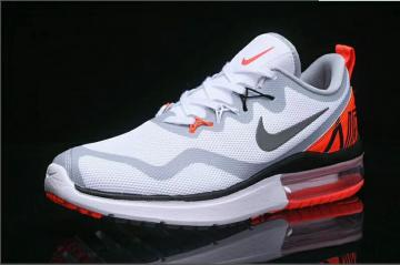 Nike Air Max Fury White Gray Red AA5740 102 Women's Sport Running Shoes