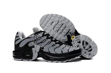 reputable site b1be5 c5a77 Nike Air Max Plus TXT TN KPU Black White Men Sneakers Running Trainers Shoes  604133-105