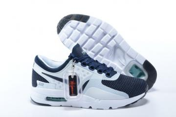 9b4e5fb15e Nike Air Max Zero 0 QS White Navy Blue Hyper Jade Sneakers Shoes 789695-104