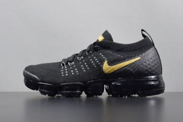 1118eb110f93 Nike Air VaporMax Flyknit 2.0 Black Gold Sneakers 942842-009
