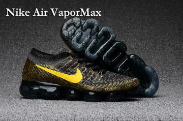 promo code e95ed bfc0e Nike Air VaporMax Men Running Shoes Sneakers Trainers Black Gold Yellow  849560-071