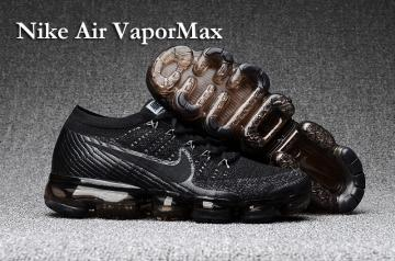 003909c255a Nike Air VaporMax Men Women Running Shoes Sneakers Trainers Pure Black  849560-001