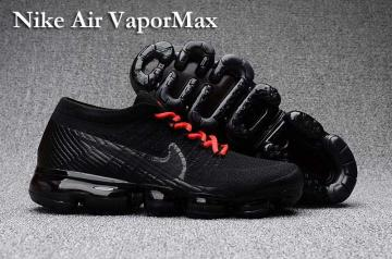 4475f8559be3 Nike Air VaporMax Men Women Running Shoes Sneakers Trainers Pure Black Red  Lace 849560
