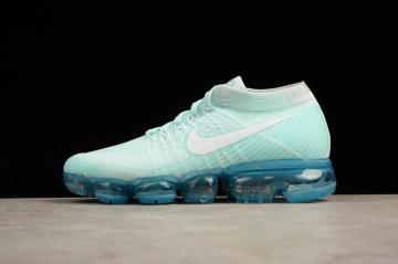 3a674ae190 Nike Air Vapor Max Flyknit Glacier Blue Breathable Running Shoes 849557-404