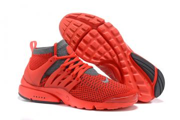 d8e2c541ea1f Nike Air Presto Flyknit Ultra Men Shoes Bright Crimson Grey Men Shoes  835570-600