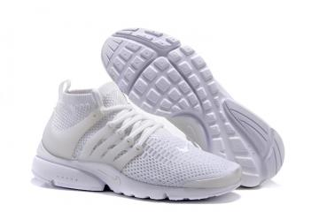 35ae894b8bd0a Nike Air Presto Flyknit Ultra Triple White Men Women Shoes Limited Edition  835570-100
