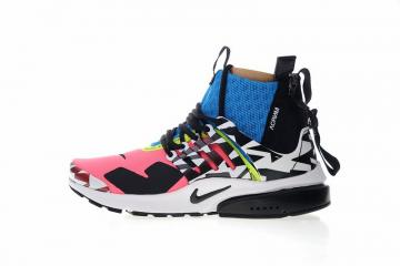 new style 4c387 0ea7d Nike Air Presto Mid Acronym Pink Photo Racer Blue Black AH7832-600