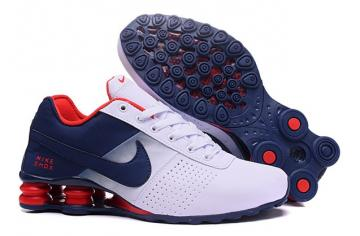 premium selection 40ca1 93beb Nike Shox Deliver Men Shoes Fade White Dark Blue Red Casual Trainers  Sneakers 317547