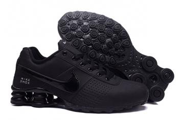 2cc837f17bcd2 Nike Shox Deliver Men Shoes Total Black Casual Trainers Sneakers 317547