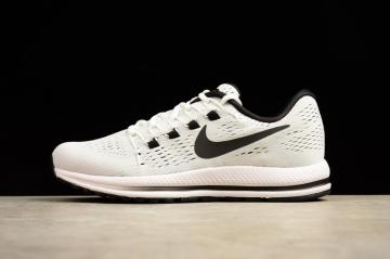 c64d963cbd19 Nike Air Zoom Vomero 12 White Running Shoes Lace Up 863763-100