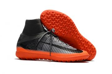 d5bc84d7b Nike Mercurial Superfly V CR7 TF high help black orange football shoes
