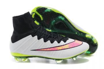 c47292d6a41 Nike Mercurial Superfly FG ACC Soccer Cleats White Black Volt Pink  641858-170