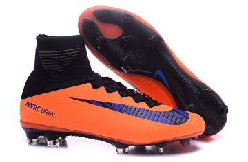 1fef3251ebc Nike Mercurial Superfly V FG ACC High Football Shoes Soccers Orange Black
