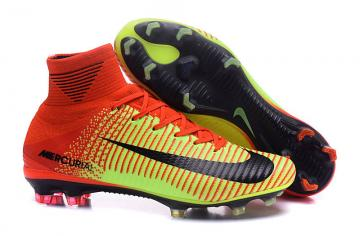 fba642cd9 Nike Mercurial Superfly V FG ACC High Football Shoes Soccers Red Yellow
