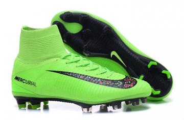 6b6e7c6993c9 Nike Mercurial Superfly V FG Elite Pack ACC Men Football Shoes Soccers  Green Black
