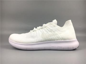 b922fabfd6d5 Nike Free RN Flyknit 2017 Running Shoes Pure White 880843-100