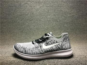 f71c62ccca5c5 Nike Free RN Flyknit 2017 Running Shoes Wolf Grey White 880843-003