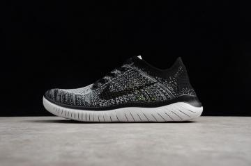 f1e95d11fa36 Nike Free RN Flyknit 2018 Mens Running Pure Platinum Black Anthracite  942838-101