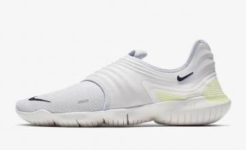 outlet store 3db06 a66a7 Nike Free RN Flyknit 3.0 Pure Platinum Luminous Green Black AQ5707-004