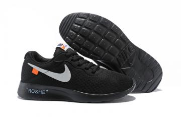 7e0e27f642877 NEW NIKE ROSHERUN ROSHE RUN ALL BLACK MEN RUNNING SHOES 511881-018 US11  FREES H Men s Shoes ...
