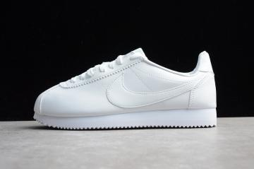 best sneakers d1396 01727 Nike Classic Cortez Leather All White Total 807471-102