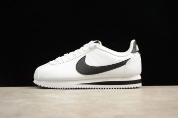 new arrivals d16ca e7ea7 Nike Classic Cortez Leather White Black Casual Shoes 807471-101