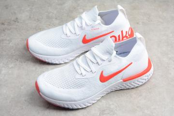 c9dfda57f5843 Nike EPIC React Flyknit Running Shoes White Orange AQ0067-800