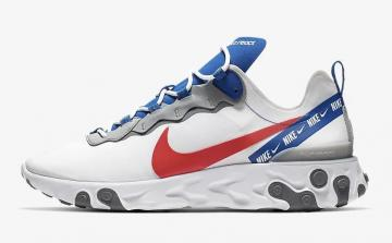 the best attitude c3845 af9d1 Nike React Element 55 White Game Royal Habanero Red CD7340-100