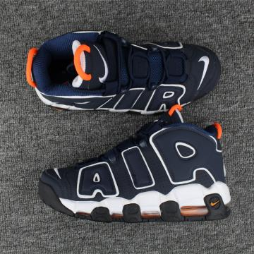 finest selection 6abed 76ea3 Nike Air More Uptempo Basketball Unisex Shoes Deep Grey Orange 415082-400
