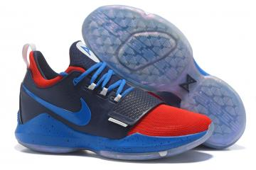 25fb405ce8 Nike Zoom PG 1 Paul George Men Basketball Shoes Royal Blue Red 878628