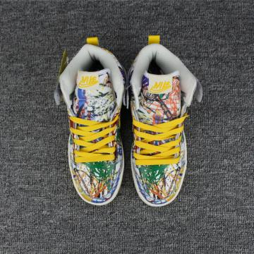 5564aae80f02 Nike DUNK SB High Skateboarding Women Shoes Lifestyle Shoes Colored Yellow  White 313171