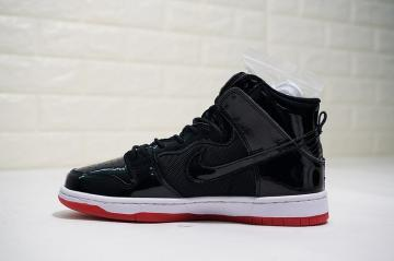 17434d371c5e Nike SB Dunk High Bred Black White Varsity Red AJ7730-001