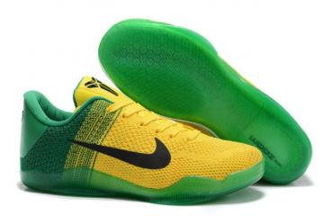 low priced 87ecc 62008 Nike Kobe 11 Elite Low All Star Oregon Ducks Yellow Green Black Men  Basketball Shoes 822675