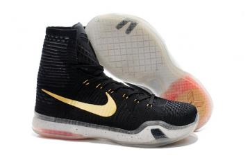 cheaper 3cb8e c578f Nike Kobe 10 X Elite High Rose Gold Black What The BHM Men Shoe 718763 091
