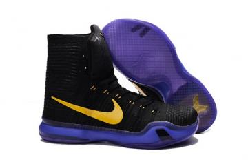 d449b3d6b14 Nike Kobe X 10 Elite High Kobe Bryant Men Basketball Shoes Black Purple  Yellow 718763