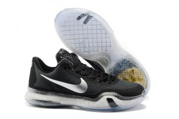 finest selection a3033 ae0ad Nike Zoom Kobe X 10 Low Men Basketball Shoes Black Silver 745334