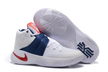 9dfabd2cb6b4 Nike Kyrie 2 EP Irving White Red Blue USA 4th July Rio Olympics Sneakers  820537-164