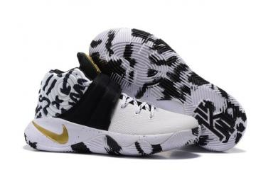 innovative design 5168c e5a3d Nike Kyrie 2 II EP White Camo Black Gold Men basketball Shoes 819583 602