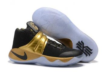 cheaper 0bc0f 383d1 Nike Kyrie 2 Limited Edition Black 24kt Gold tone Handcrafted Sneakers Drew  League 843253-995
