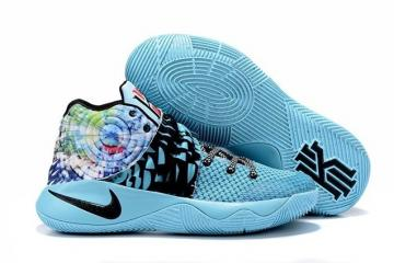 sale retailer 7dda1 25540 Nike Kyrie II 2 Tie Dye Effect Light Blue Black Multi Color Shoes 819583  Unisex