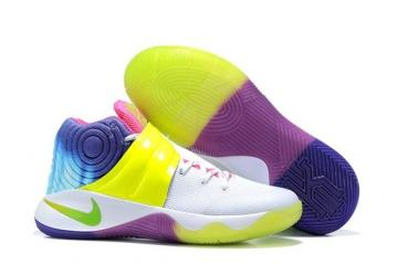 9d8589eac692 Nike Kyrie 2 II EP Rainbow Men Shoes White Flu Green Multi Color 849369 995