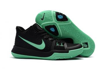 buy online 79524 a9936 Nike Zoom Kyrie 3 EP Black Green Unisex Basketball Shoes