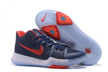 994fa25287a3 Nike Zoom Kyrie 3 EP Navy Blue Red White Men Shoes