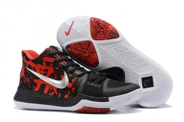 official photos df422 be2f8 Nike Zoom Kyrie 3 III Samurai Mystery Drop Black Red Silver Men Shoes  852395-900
